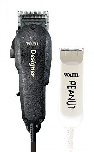 Wahl Professional All Star Clipper/Trimmer Combo #8331 Features Designer Clip and Peanut Trimmer Includes Accessories - Red