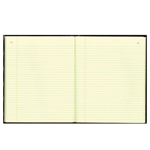 - Texhide Accounting Book, Black/Burgundy, 150 Green Pages, 10 3/8 x 8 3/8, Sold as 1 Each