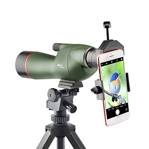 Gosky 15-45X60 Spotting Scope - Waterproof Scope for Target Shooting Bird Watching Animal Watching Hunting Archery Outdoor Activities with Tripod and Phone Adapter
