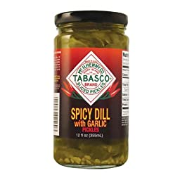 Tabasco Spicy Dill with Garlic Pickles, 12 Ounce