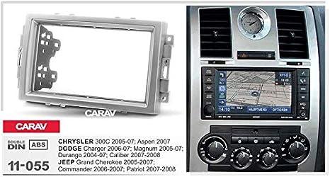 Carav 11 055 Doppel Din Radio Adapter Dvd Armaturenbrett Installation Umrandetes Zierleisten Kit Patriot Blende Mit 173 X 98 Mm Und 178 X 102 Mm Auto