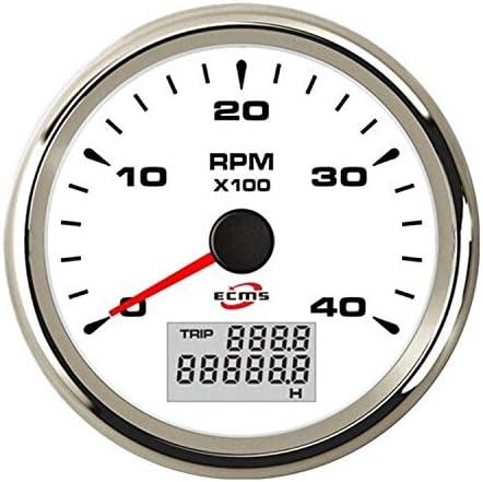 LIPENLI 回転速度计 エンジン、船舶、修正車のインパネ4000 RPMデジタル/トラック/エンジンジェネレータタコメータ 自動車用品