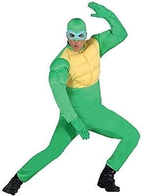 Hombre Mujer Verde Tortugas Ninja superhéroe Animal Disfraz ...