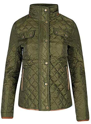 Da Collo Giacca 42 Trapuntata Elbow Womens olive Patches Imbuto It Khaki Fashions A Islander Donna 60 xqz1II