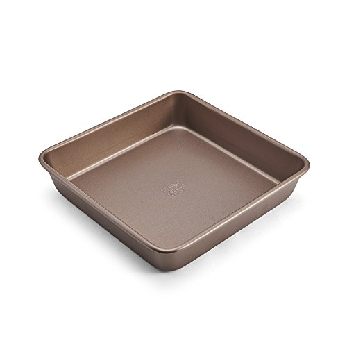 Chicago Metallic Baking - Chicago Metallic 5212092 Elite Non-Stick Carbon Steel Square Cake Pan, 9-Inch, Bronze