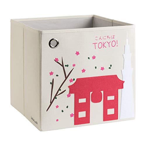 kaikai & ash Storage Bin, Canvas Fabric Toy Box Cube, Kids - Tokyo