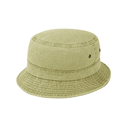 Hats & Caps Shop Pigment Dyed Twill Washed Bucket Hat - By TheTargetBuys | (KHAKI-ML) (Dyed Solid Cap Pigment Twill)