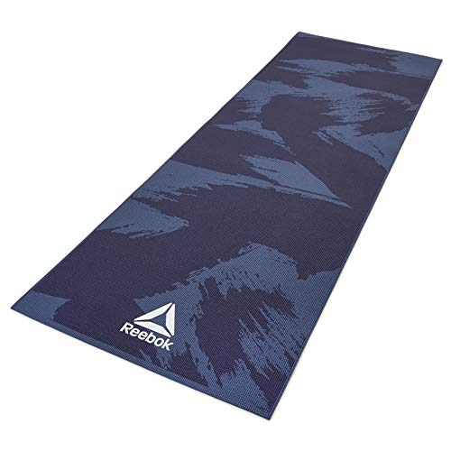Reebok Brush Strokes Yoga Mat, Blue/Black, 4mm