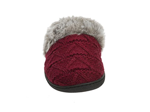 Clog Textured Pile and Sweater Dearfoams Cabernet Knit PUREfactory Women's Repair Mango Bundle Cuff Mini with Coconut Foot q1YRqwIn5