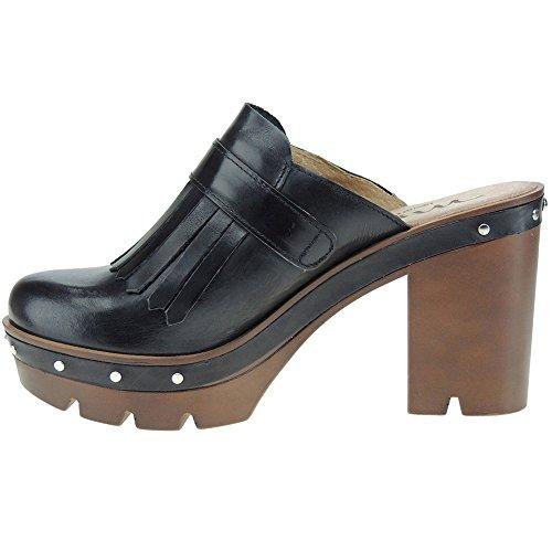 Negro 104195 Flecos Plataforma Tacón Para Zueco 5cm Y Con Mujer Myltho 3 10cm t7xqFRwtd