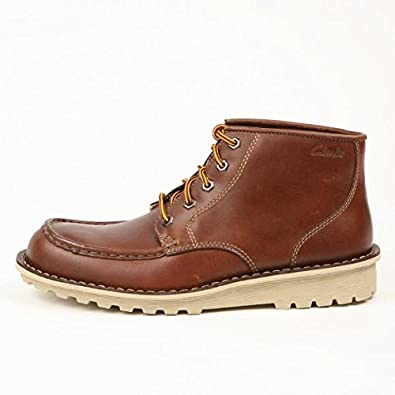 d589e317ea6 Clarks Mens Manly Path Chestnut Leather Ankle Boots UK Size 10.5 ...