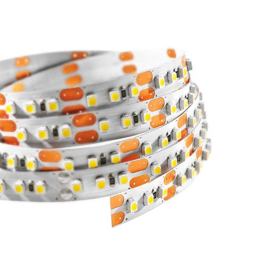 Siena LED Lighting Exclusive UL-Listed High Output 2835 LED Light Strip - 600 LEDs, 16 Feet - 12V DC Kitchens, Cabinets, Displays & More (Warm White-3000 Kelvin High Density (828 Lumens/Ft))