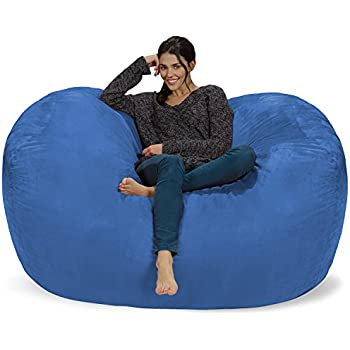 Chill Sack Bean Bag Chair: Huge 6u0027 Memory Foam Furniture Bag And Large  Lounger
