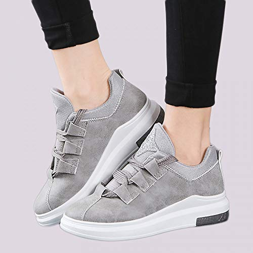 Sport Women Shoes GUNAINDMX Shoes Grey Ladies Women Lace For Casual Shoes Up Platform Flats Sneakers Breathable Autumn HwqfCSnw