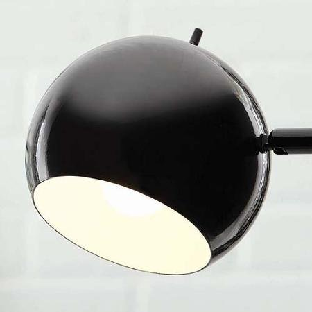 Black Track Tree Lamp, CFL Bulb Included