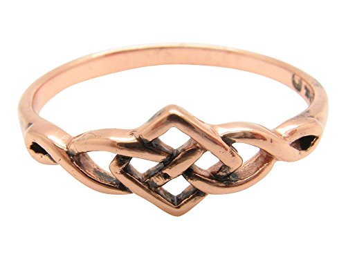 Copper Celtic Knot Band Size 5 Ring CTR1751-3/16 of an inch Wide. Very ()