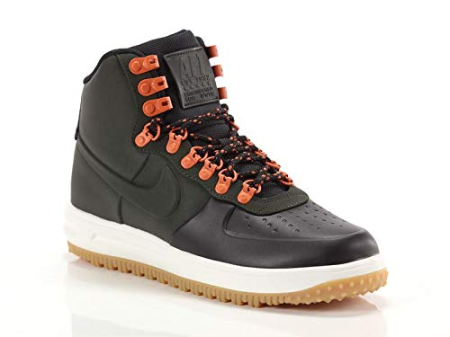 Nike Mens Lunar Force 1 Duckboot Boot (9 M US, Black/Sequoia-sail-Gum Light Brown)