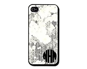 Personalized Monogram Vintage Forest Block Rubber Case for Samsung Galaxy S5 (white plastic)