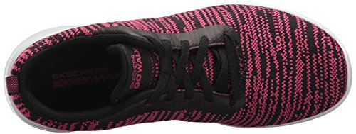 Sneaker Joy Rapture Walk Donna Go Black Skechers Pink Hot AawTO