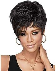 الأزياء الأوروبية والأمريكية باروكة سوداء الشعر القصير شعر مستعار رقيق في سن المراهقة Wig-310