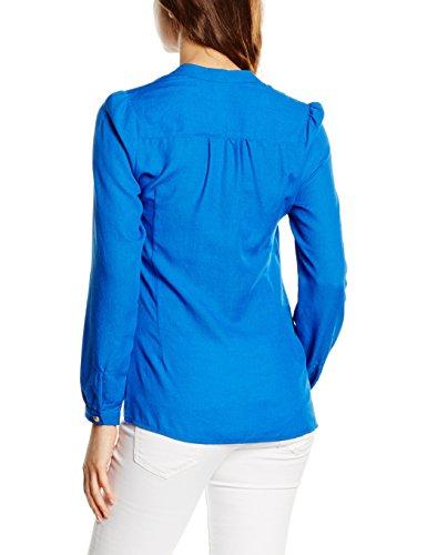 HotSquash Front Pleat Cobalt Bleu Blouse Femme rxrPwq