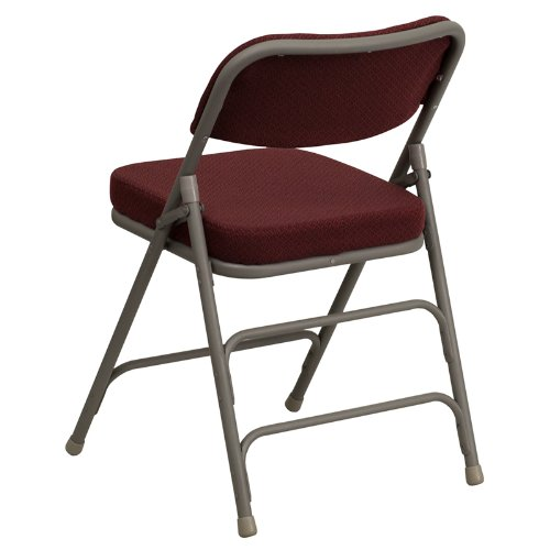 Flash Furniture HERCULES Series Premium Curved Triple Braced /& Double Hinged Burgundy Fabric Metal Folding Chair HA-MC320AF-BG-GG