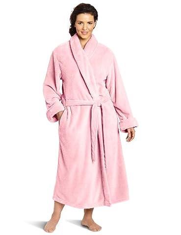 Casual Moments Women's Plus-Size 50 Set-In Belt Wrap, Light Pink, 1X