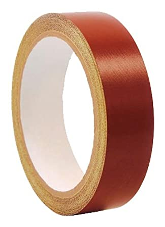 """CS Hyde PTFE / Fiberglass Laminate with Silicone Adhesive Liner, 4 mil Thick, Red, 0.5"""" Width x 5 Yard Roll"""