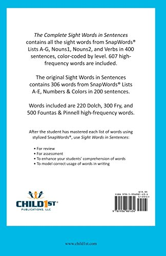 Amazon com: The Complete Sight Words in Sentences: Sarah