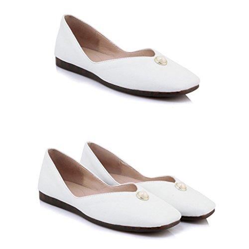 couleur Bottom Simples Soft Hwf Plates Femme Noir Taille De Chaussures Étudiant Décontracté Pour 36 Fille Mme Été Travail Femmes Blanc xXfZzFwqY
