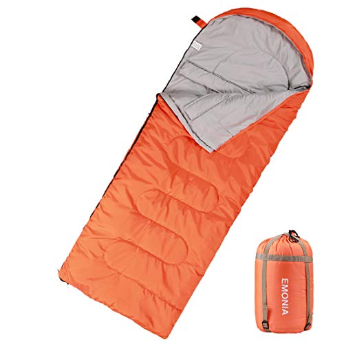 Emonia Camping Sleeping Bag,Three season.Waterproof Outdoor Hiking Backpacking Sleeping Bag Perfect for 20 Degree Traveling,Lightweight Portable Envelope Sleeping Bags for Adults,Girls and Boys