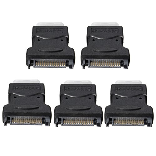AIKE 5Pcs 15 Pin SATA Male to 4 Pin Molex Female Power Adapter For IDE Hard Drive/CD/DVD by Aike® (Image #3)