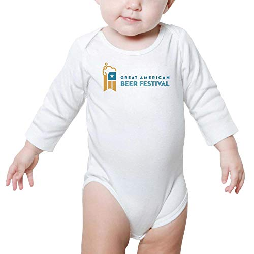 Great American Beer Festival Logo GABF Newborn White Romper Long Sleeve Natural Organic Cotton -