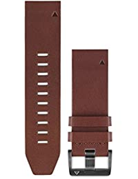 010-12496-05 Fenix 5 Quick fit 22 Watch Band - Brown Leather
