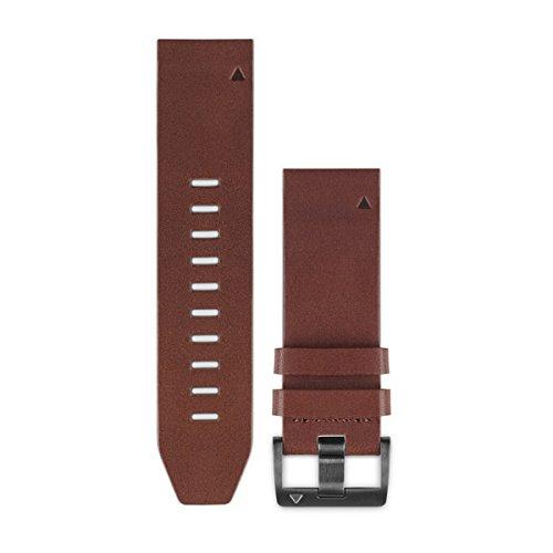 Garmin - Bracelet de Rechange pour Montres Fenix 5 - QuickFit - 22 mm - Cuir - Marron
