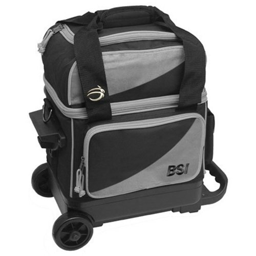 Bowlers Superior Inventory BSI Prestige Single Roller Bowling Bag- Gray/Black ()
