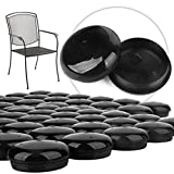 32 Pack 1-1.5' Patio Furniture Glides/Feet/Caps for Wrought Iron Outdoor Furniture - Protect Your Floor Surfaces from Scratches, Replacement for Eight Chairs (with 4 Legs), Easy to Install Impresa