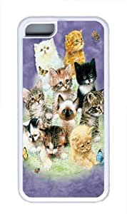 10 Kittens TPU Silicone Case Cover for iPhone 5/5s White by kobestar