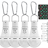 Flyhoom 4 Pack Rechargeable LED Light Bulb with