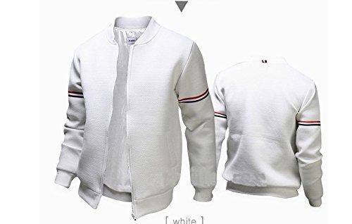 In collo Coreana Dimagrante Pullover Di Bianco Uomini Giacca Rivestire Decorato xxl Un Versione Lounge Mock wnv4f0xgW