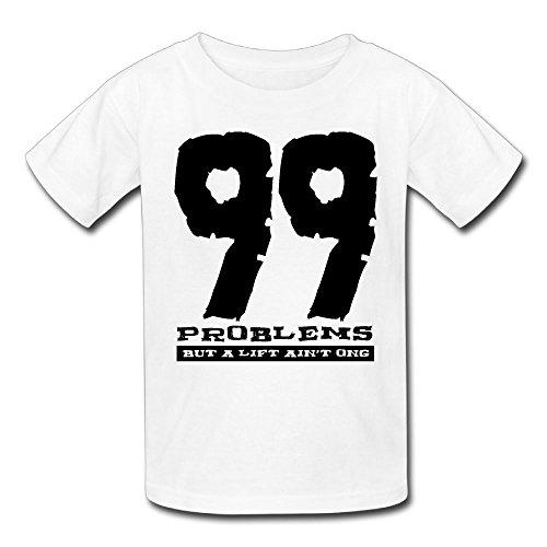 Hailin Tattoo Boys Girls Tshirt 99 Problems Short Sleeve T Shirt Fashion Couple (Short Setback)