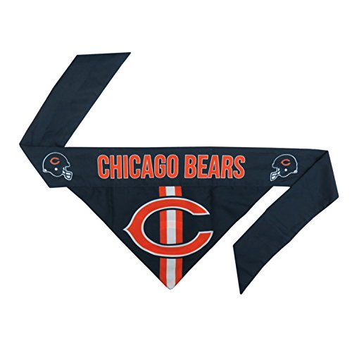 Polyester Nfl Football (NFL Chicago Bears Pet Bandanna, XL)