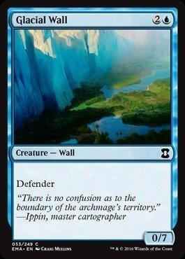 Year 20 Wall Blue - Magic: the Gathering - Glacial Wall (053/249) - Eternal Masters