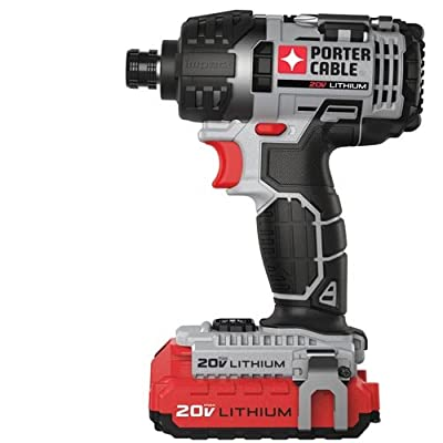 PORTER-CABLE PCCK640LB 20-volt 1/4-Inch Hex Lithium Ion Impact Driver Kit - Power Impact Drivers -