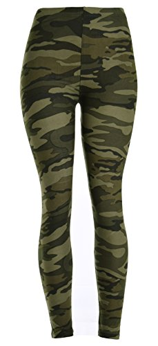 [PLUS SIZE Printed Leggings (Army Camouflage)] (Army Outfits For Women)
