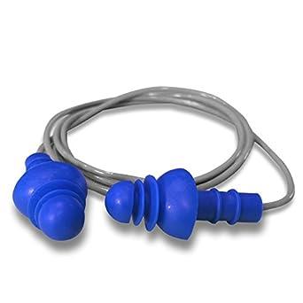 Pack of 50 DAP Safety HEAROS 7411 F4 Reusable Earplug Blue POP Case Uncorded NRR27 Regular