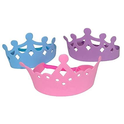 3-Pack of 12 Foam Princess Tiaras Crowns Party Dress-up Role Play Accessory