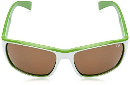 Dice Lunettes de soleil unisexe, black mat/green