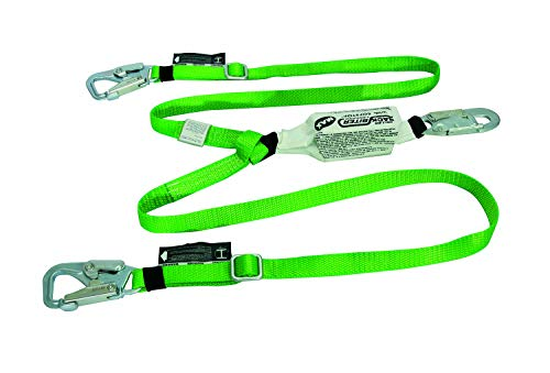 - Miller Fall Protection 980B/6FTGN Backbiter Tie-Back Lanyard with Shock Absorber, Standard, Green