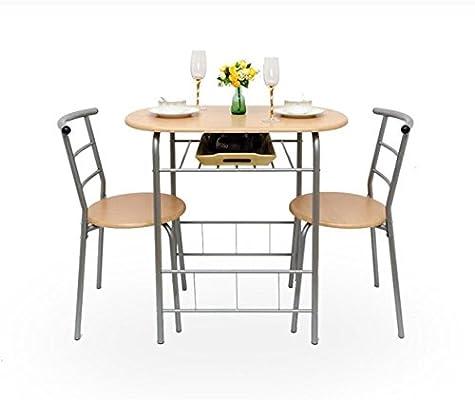 Ajustable Mesas Plegables y sillas Pareja Mesa y Silla de Comedor 1 Mesa y 2 sillas 2 Colores Opcional Se Puede Girar (Color : B): Amazon.es: Hogar